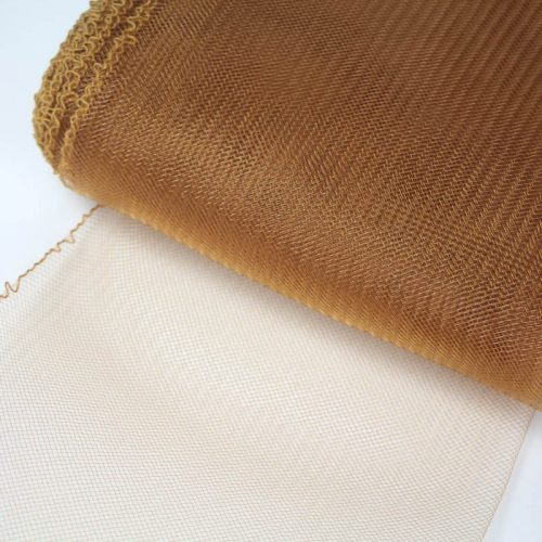 Butter Rum Horsehair 100% quality polyester, very flexible, used in making hats and for trim work.