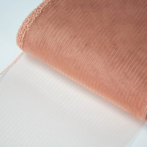 Peach Horsehair 100% quality polyester, very flexible, used in making hats and for trim work.