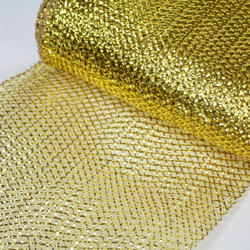 Gold Metallic Lurex, very flexible horsehair.