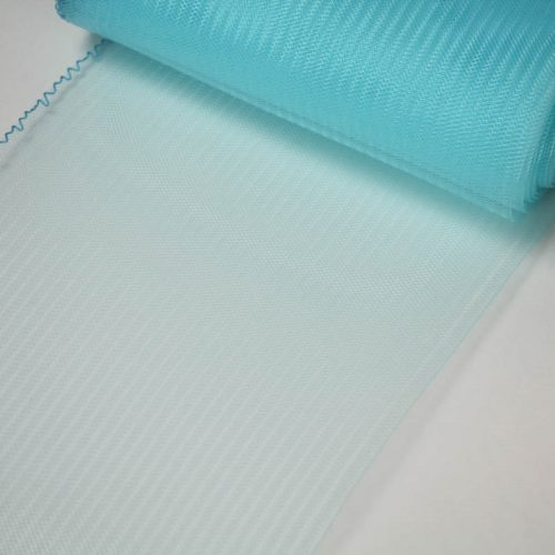 Light Turquoise Horsehair 100% quality polyester, very flexible, used in making hats and for trim work.