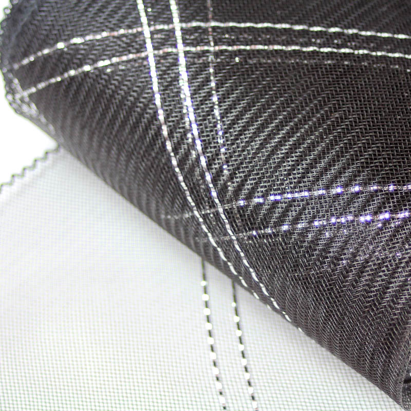 Black and Silver Metallic Crosshatch or zigzag pattern.