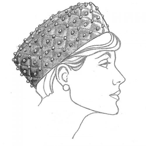 Popular standard pillbox shape hat pattern.