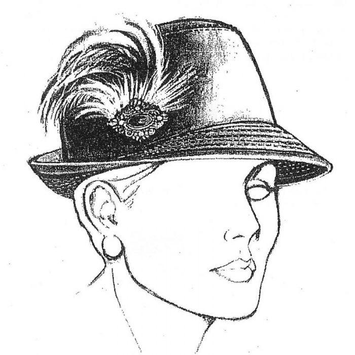 Snap brim fedora hat pattern. Make in a medium to heavy weight fabric.