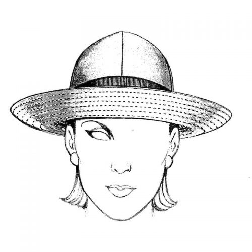 Rain Hat pattern. Wear this top-stitched brim several ways. Fabric suggestion is nylon supplex.