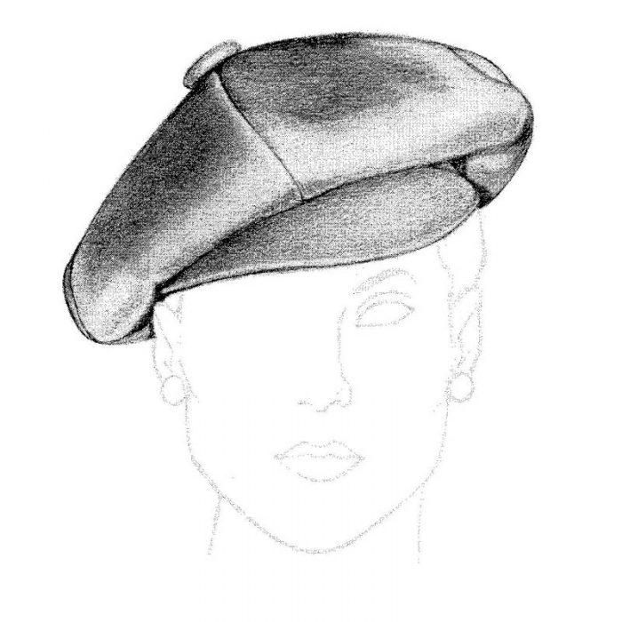 Oversized newsboy style hat pattern.