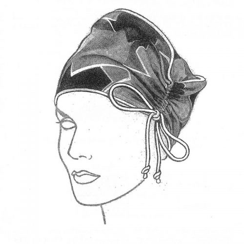 Comfortable and stylish hat pattern for travel or just right for a bad hair day.
