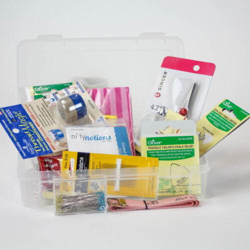 A deluxe millinery sewing kit with all the pieces you need in one handy, portable package.