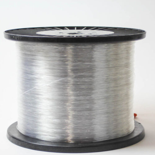 This is a special order item. Please allow 7-10 days for delivery. A 20lb spool (approximately 4000 yards) of the Clear Polyester monofilament with memory, washable, will not rust.
