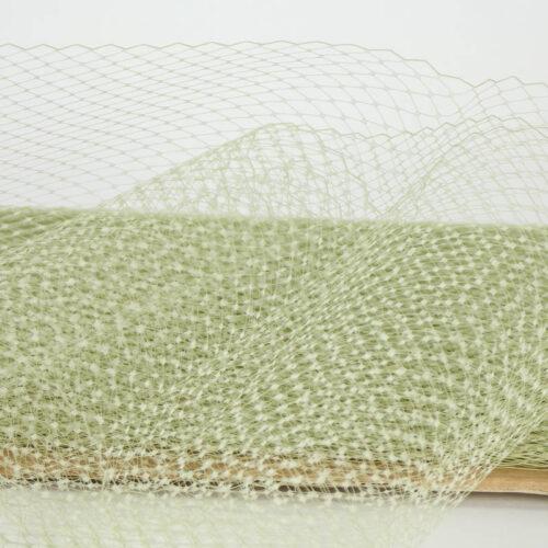 Sage green Standard diamond pattern with 1/4 inch opening, 8-9 inch width, 100% nylon.