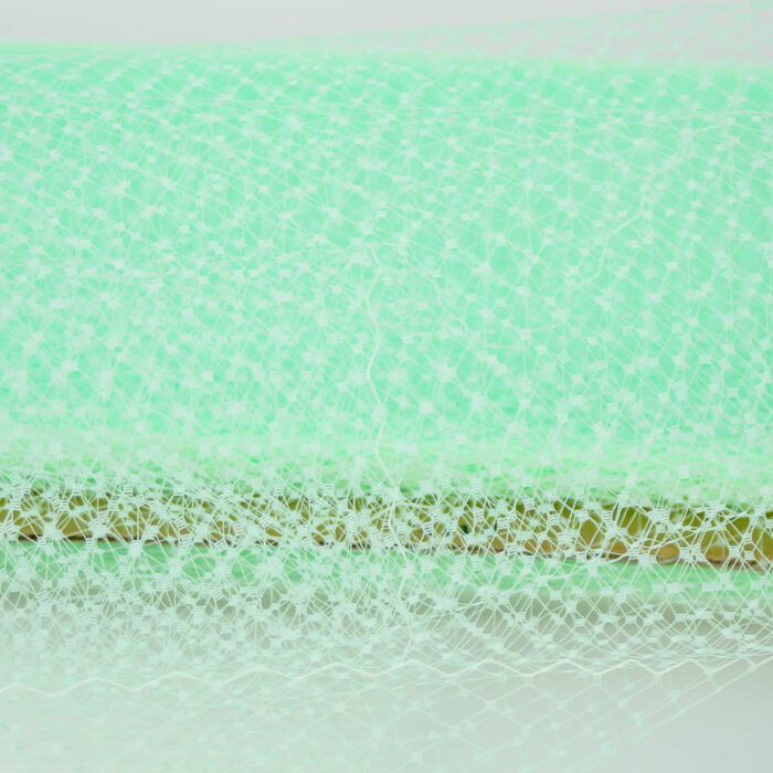 Mint green Standard diamond pattern with 1/4 inch opening, 8-9 inch width, 100% nylon.