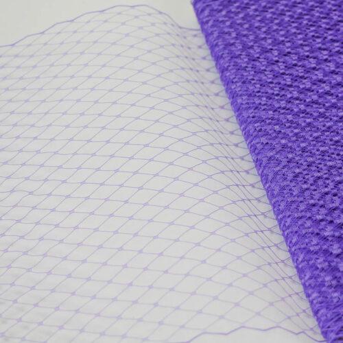 Lavender Standard diamond pattern with 1/4 inch opening, 8-9 inch width, 100% nylon.