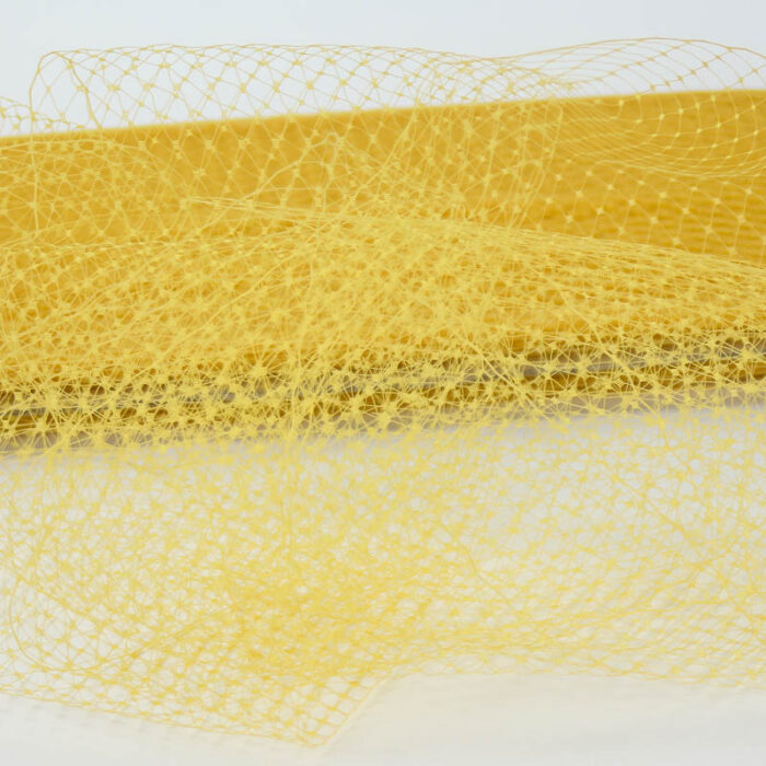 Harvest Gold Standard diamond pattern with 1/4 inch opening, 8-9 inch width, 100% nylon.