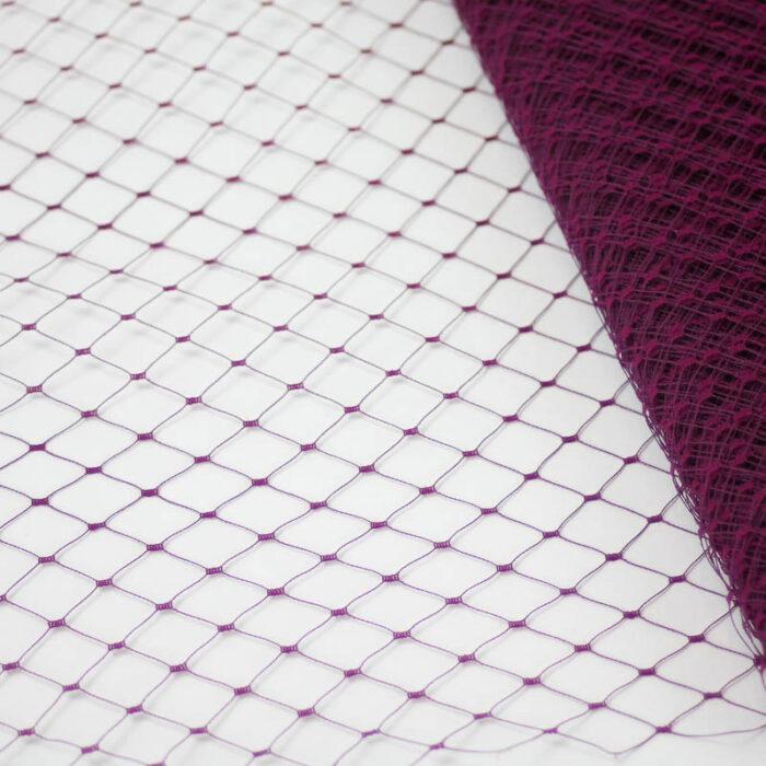 Wine A terra cotta or rust Merry Widow pattern with 1/2 inch diamond opening, 12 inch width, 100% nylon.