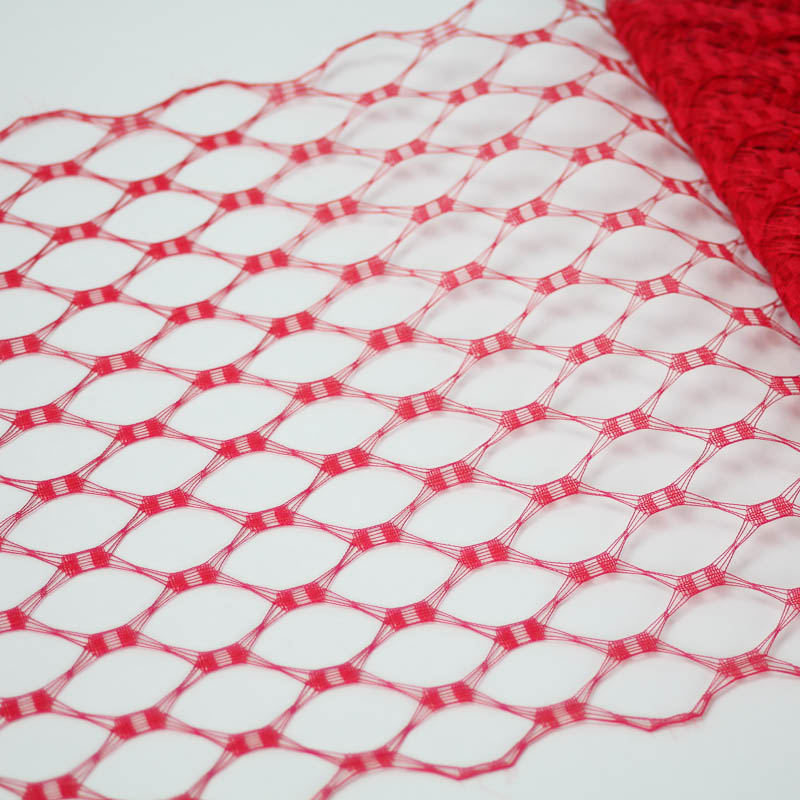 Red This resembles the vintage wider weave veiling of yesteryear.