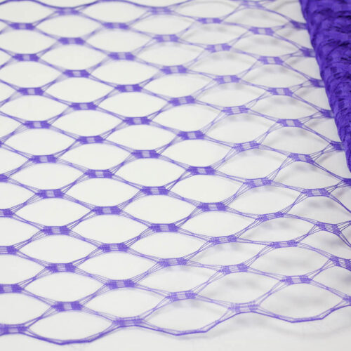 Purple This resembles the vintage wider weave veiling of yesteryear.
