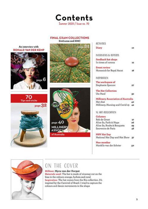 Hatlines Magazine 2020 Summer Issue 70 index