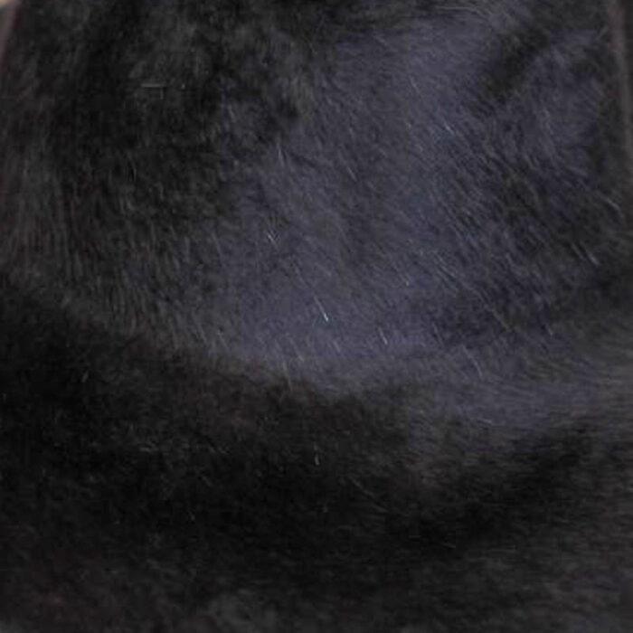 Coal Black color. Brims are size 16/17 inch brim width (113 grams).