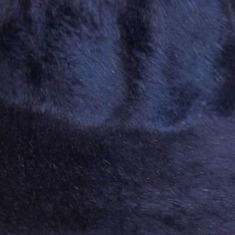 A medium navy blue. Brims are size 16/17 inch brim width (113 grams).