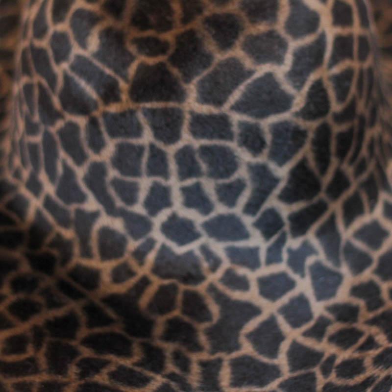 Mink brown and black pattern, 15/16 diameter.