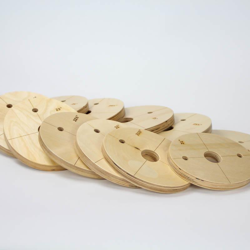 Set of eleven headsizeplates (collars)