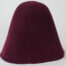 Deep purple wine 100% wool felt hood, 3 1/2 ounce weight (100 grams), made in China.