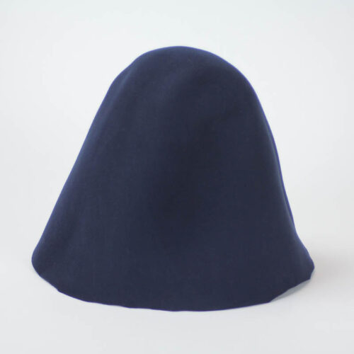 Navy wool felt hood. 100% wool felt hood, 3 1/2 ounce weight (100 grams), made in China. Hoods have 10/11 inch depth.