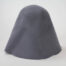 Medium grey wool felt hood. 100% wool felt hood, 3 1/2 ounce weight (100 grams)