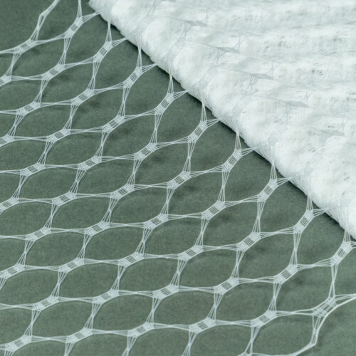 White This resembles the vintage wider weave veiling of yesteryear.