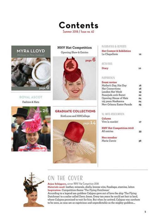 Hatlines Magazines 2018 Summer Issue 62 index