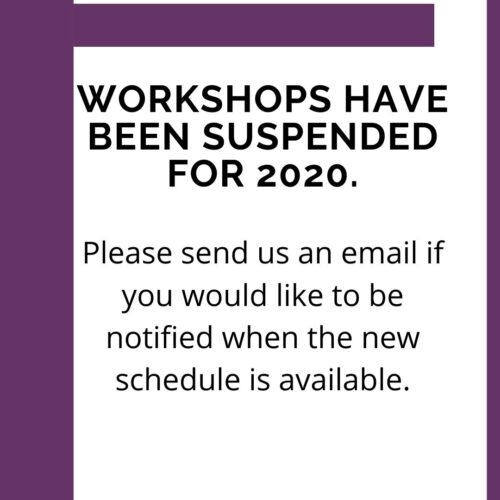 No workshops in 2020