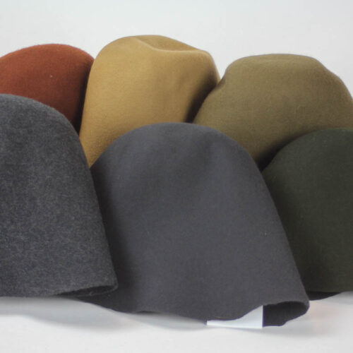 Men's weight assorted colors 100% merino wool felt, excellent quality, made in Czech Republic.