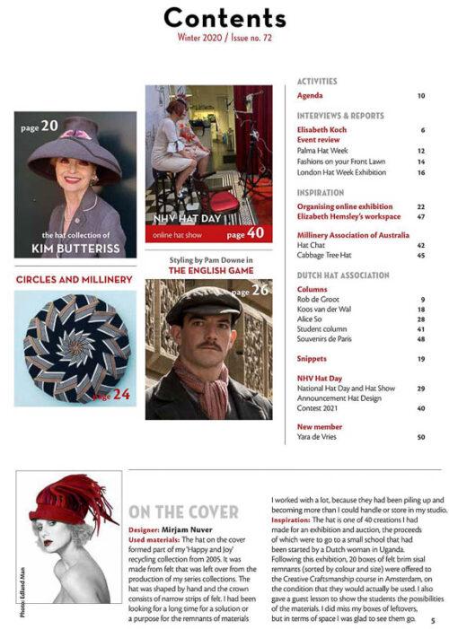 9288 Hatlines issue 72 index