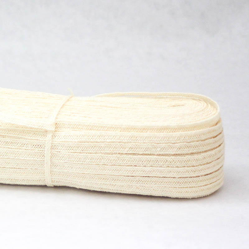 Ivory Abaca Hemp Braiding, 5-6 mm width in 144 yard hank. Good quality.