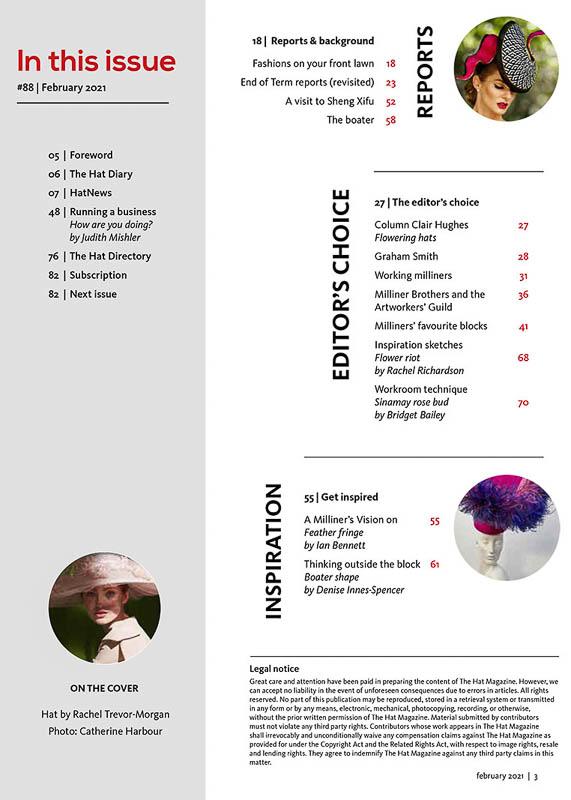 Hat Magazine issue 88 index